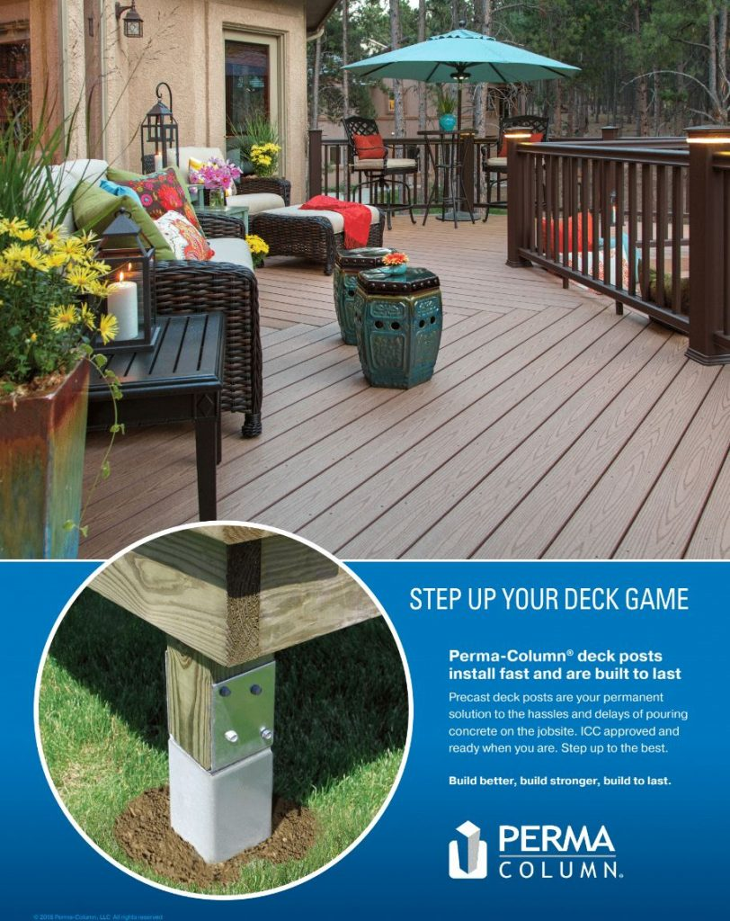 Perma Column deck posts via BB Sales Group